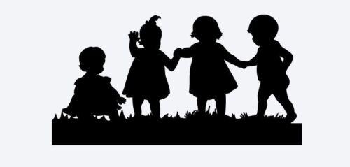 """Silhouette Die Cut Set of Two /""""Four Babies/"""" Die Cuts"""