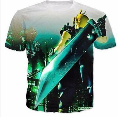 New fashion Women/Mens Final Fantasy VII Funny 3D Print Casual T-Shirt RTV5