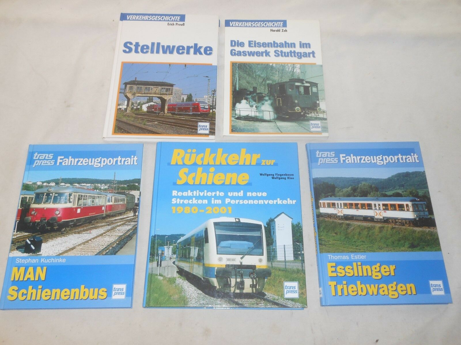 5 LIBRI FERROVIE-TRAIN BOOKS VOLUMI immagine-saggi Transpress