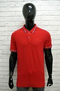 Polo-LOTTO-Uomo-Taglia-Size-XL-Maglietta-Maglia-Camicia-Shirt-Man-Cotone-Rosso