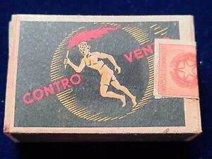 Scatola fiammiferi, match box, SAFFA, contro vento, vintage, completa