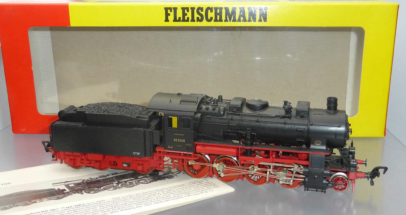 Fleischmann 4156; Locomotora de remolque 56 2048 DRG, sin jugar, en OVP  J854