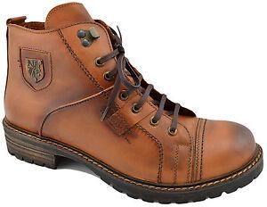 200-REACTOR-Tan-En-Cuir-Marron-Motard-Mode-Cheville-Bottes-Hommes-Chaussures