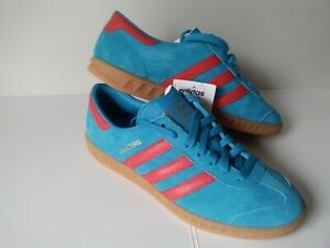 patrón Destructivo Entrada  ADIDAS HAMBURG IN SOLAR BLUE/RED UK SIZE 8 BNIBWT RARE DEADSTOCK | eBay