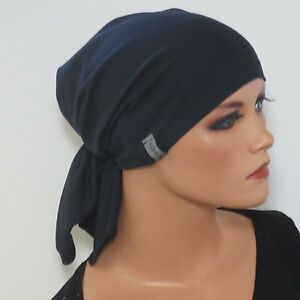 k k design bandana kopftuch ohne binden blau chemom tze alopezie ebay. Black Bedroom Furniture Sets. Home Design Ideas
