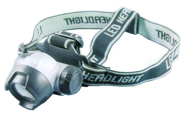 Dennett Super Bright Bright Bright Headlight 7 DEL Lampe projecteur-Gris/Noir QD-H07 bef871