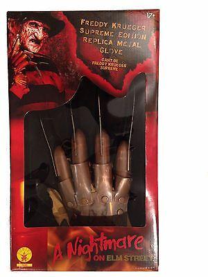 METAL Freddy Krueger Razor Glove SUPREME EDITION DELUXE Razor Hand LICENSED NEW