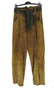 Lederhose 38/40 (D) Wildleder braun grün hochwertig Tracht top