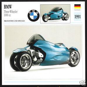 1991 BMW Three-Wheeler 1000cc 3-Wheel Show Bike Motorcycle