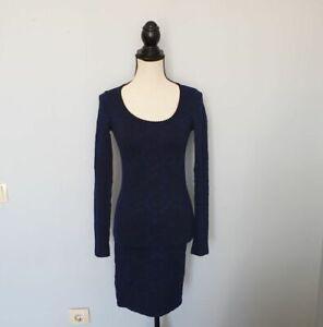 WOLFORD-Damen-Kleider-Schwarz-Blau-Dress-Gr-S