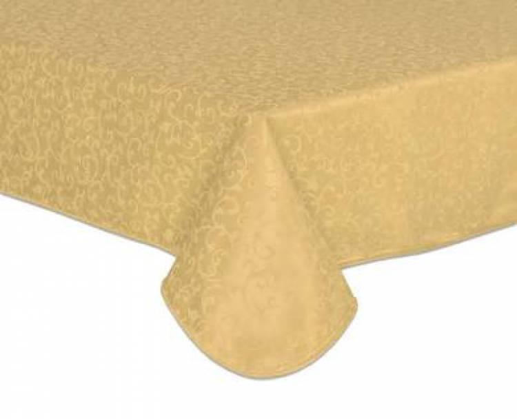 Table Tissu Doré Brocart 13.7m Place Vintage Lin Textile Maison Décoration Jaune