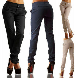 Image Is Loading Women Las Pencil Trouser Clic School Office Pants