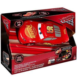 Mattel-Cars-3-Saetta-McQueen-Re-Action-Macchina-Interattiva-Luci-e-Suoni