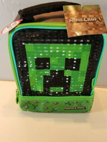MINECRAFT CREEPER Thermos® Lead-Safe Dual Compartment Insulated Lunch Tote Box