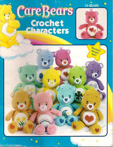 "CARE BEARS CHARACTERS: 14"" DOLLS to CROCHET pattern instruction book"