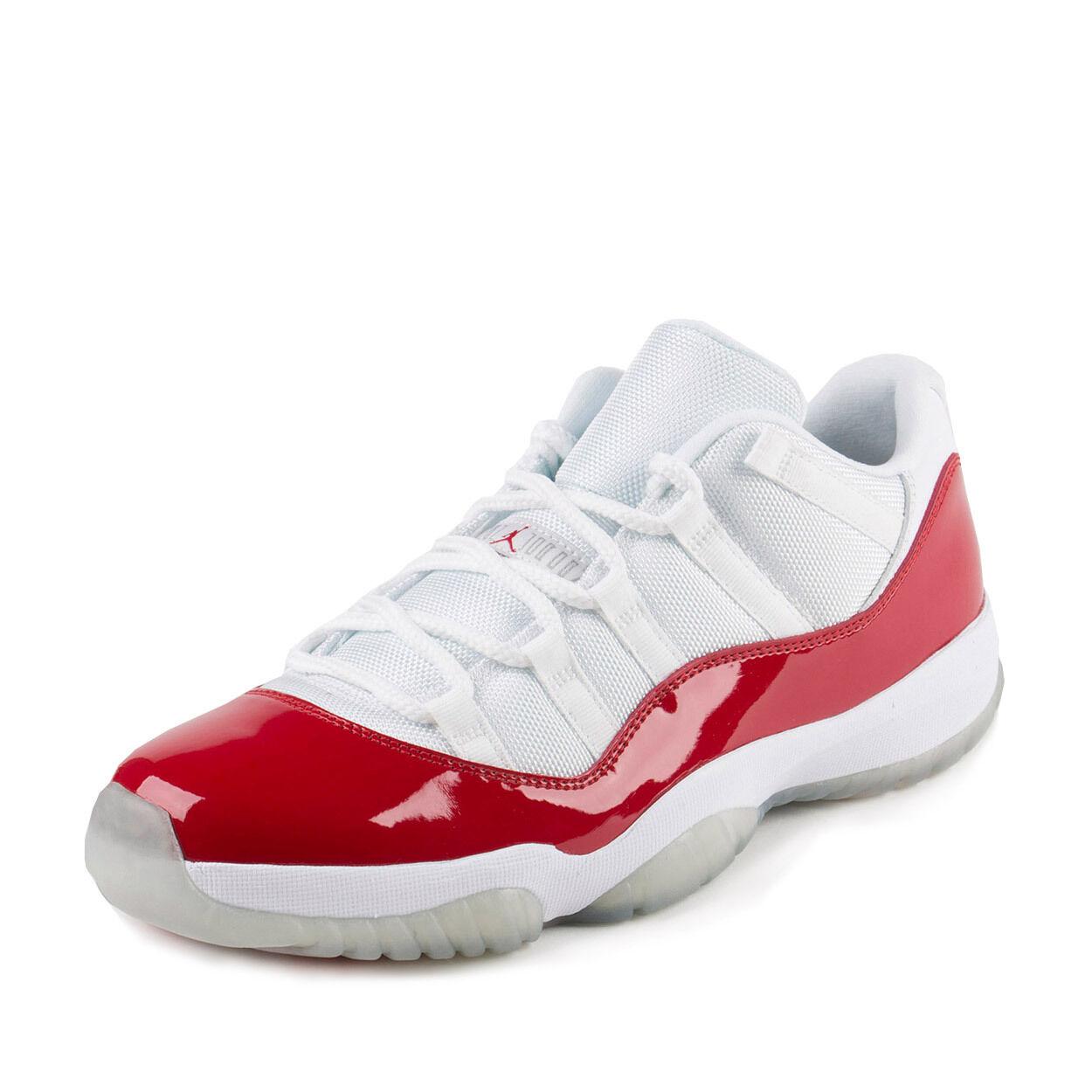 NEW AIR JORDAN XI LOW WHITE VARSITY RED 528895 102 SIZE 14 US