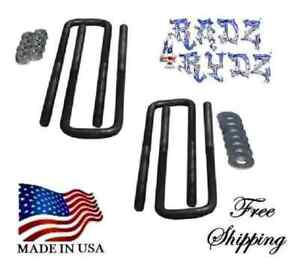 Universal 5//8 X 3 1//8 X 14 Square U-Bolt Kit//4 Compatible with Ford//Chevy//Dodge
