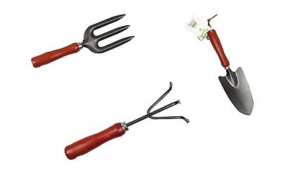 Garden Hand Fork Trowel Rake Tools Planting Vegetable Gardening