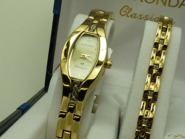 Sekonda 4538g Las Clique Diamond Watch Bracelet Set Other Please Read