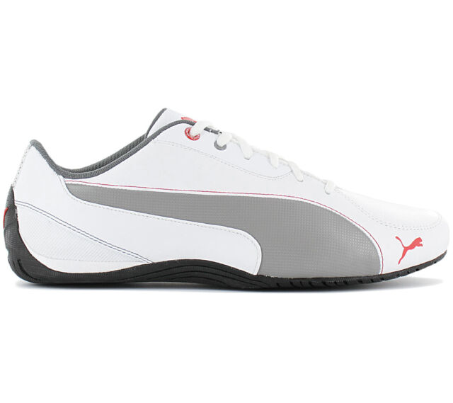 Puma Drift Cat 5 Men's Sneakers 304687 04 White Leather Motorsport shoes new