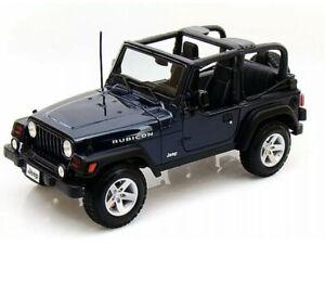 Coche-Modelo-Diecast-Escala-1-18-Maisto-Jeep-Wrangler-Rubicon-Azul-Edicion-Especial