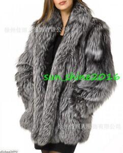 Women-Fox-Fur-Thicken-Warm-Coat-Jacket-Trench-Parka-Outwear-Overcoat-Winter-Chic