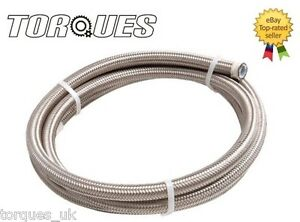 AN-6-8mm-I-D-Teflon-Stainless-Braided-Fuel-Hose-0-5m