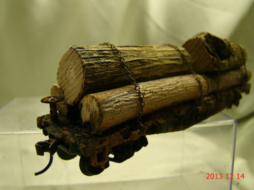 6 Logging Cars beautiful weathered handcrafted -new original look-lot 16