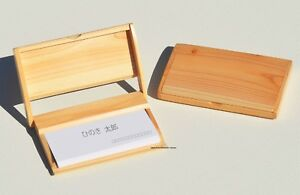 Japan hinoki cypress wood business card case 4988484596805 ebay image is loading japan hinoki cypress wood business card case colourmoves