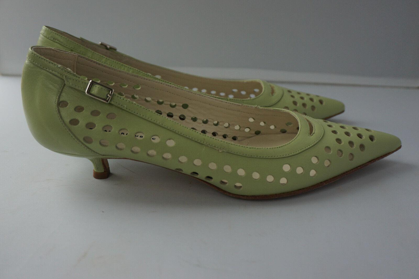 Banana Republic femmes vert Leather Kitten Heels Taille 6.5 Made in