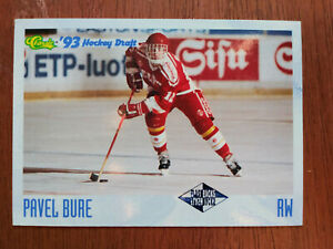 1993-Classic-Pavel-Bure-Flashback-Hockey-Card-117-Vancouver-Canucks-Rookie-RC