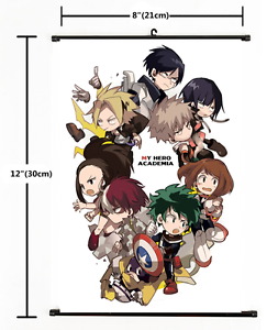Hot Anime Boku no hero academia My Hero Academia Wall Scroll Poster cosplay 2802