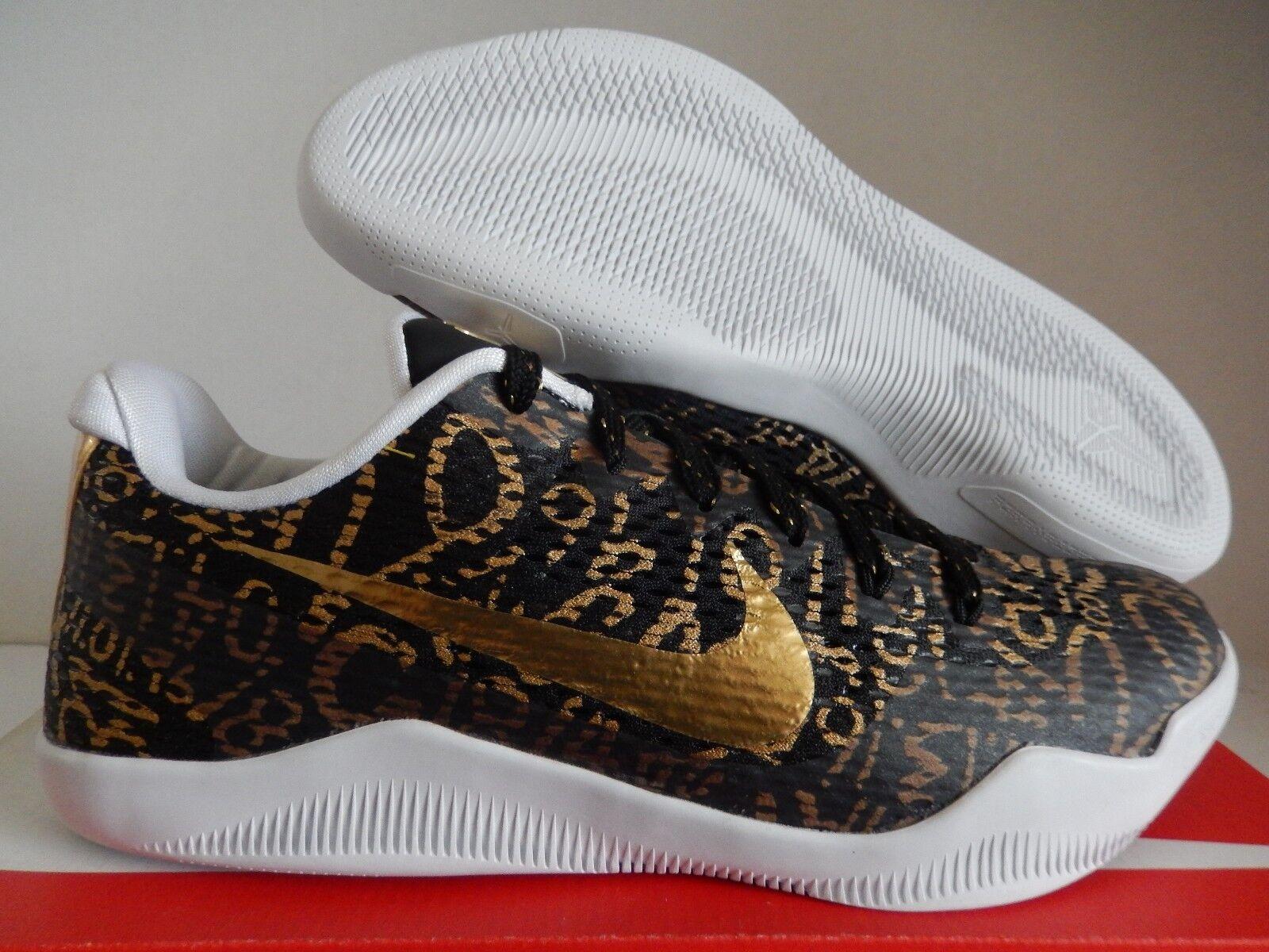 buy online 3f1bd 87dc5 Nike Kobe XI 11 id Mamba Negro-Oro-Blanco reducción de precios precios  precios