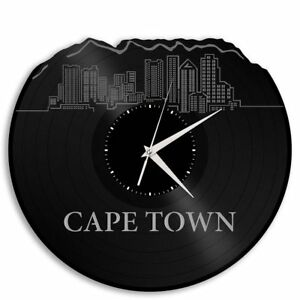 Cape Town South Africa Vinyl Wall Art Clock Cityscape Unique Vintage ...