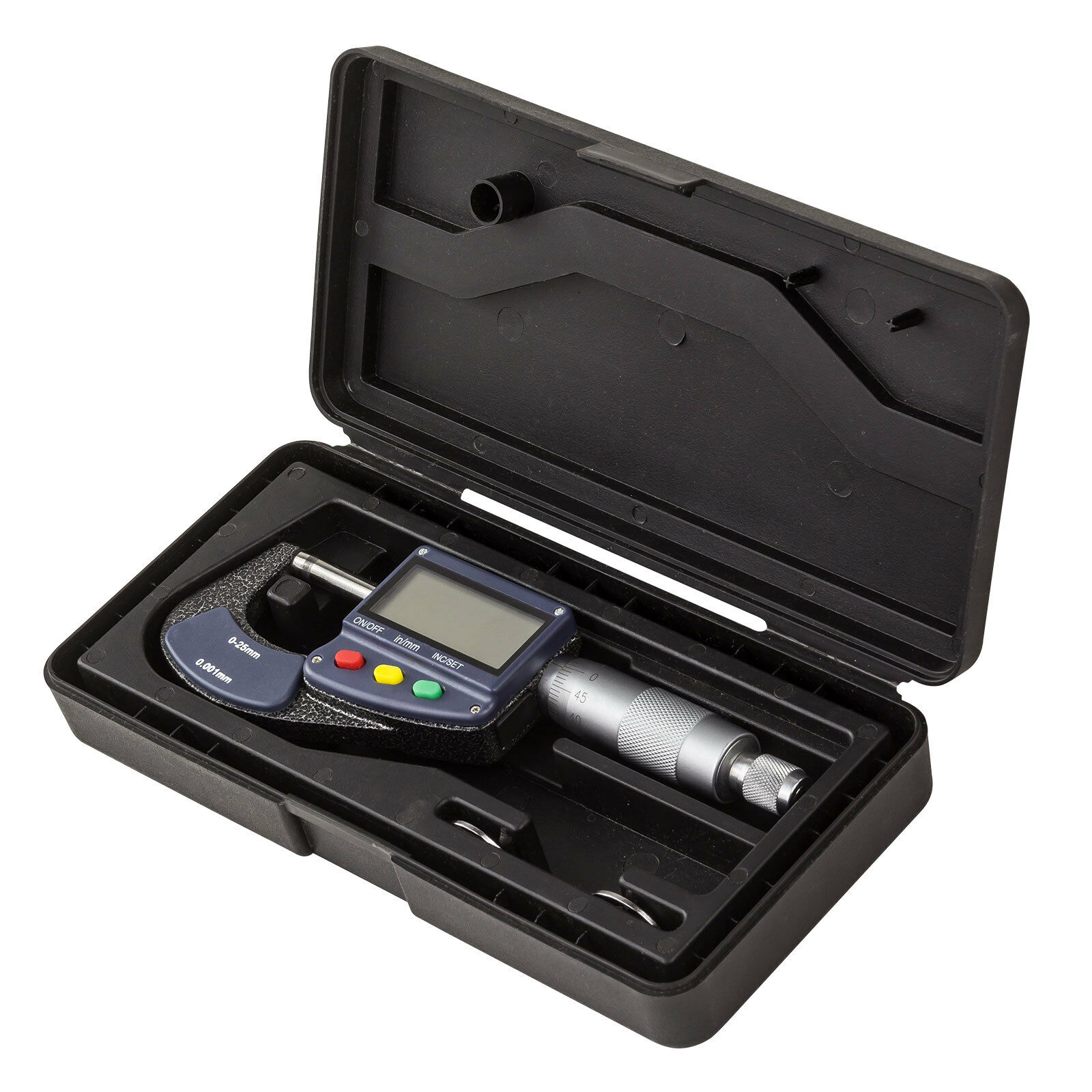 Digital Mikrometer Bügelmessschraube Messschraube Messwerkzeug 0-25 mm