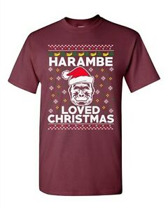 image is loading harambe loved christmas gorilla ugly xmas animal funny