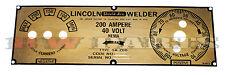 Lincoln SA-200 5-Selector Long Hood Brass Face Plate BW870