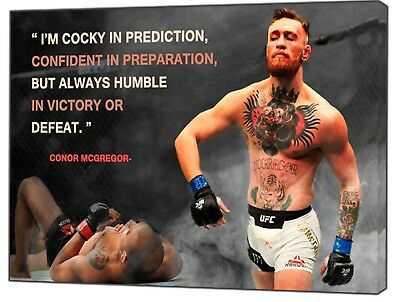 CONOR MCGREGOR  KNOCKOUT  PHOTO PRINT ON FRAMED CANVAS PICTURE  WALL ART DECOR