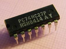 10x PC74HC27P Triple 3-Input NOR Gate, Philips