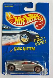 Anni 1990 HOTWHEELS Blue CARD AUDI AVUS QUATTRO CONCEPT CAR VINTAGE MOLTO RARA!