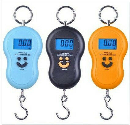 New 50kg 5g Electronic Hanging Luggage Pocket Portable Digital Weight Scale Kg Lb OZ at R90 each