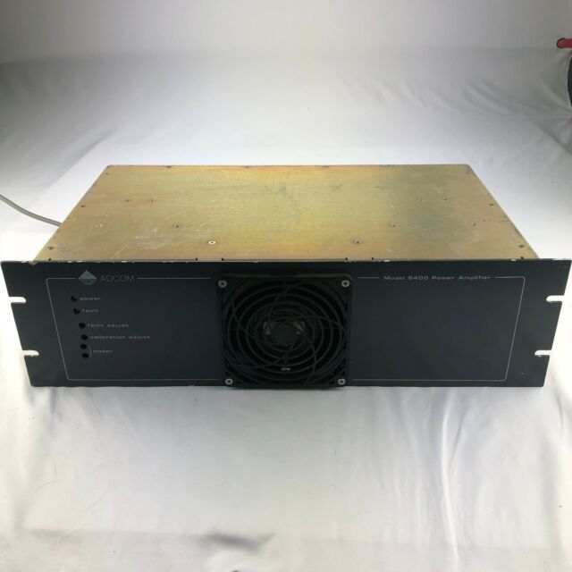 Adcom Model 6400 Power Amplifier Vintage Rare Fault For Parts only