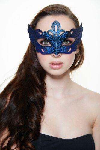 Blue Black Venetian Masquerade Mask Perfect for Prom//Mardi Gras//Wedding//Party