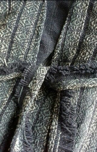 Free People FP X Half Moon Jacquard Kimono Poncho Cape Tribal Print Blue $128