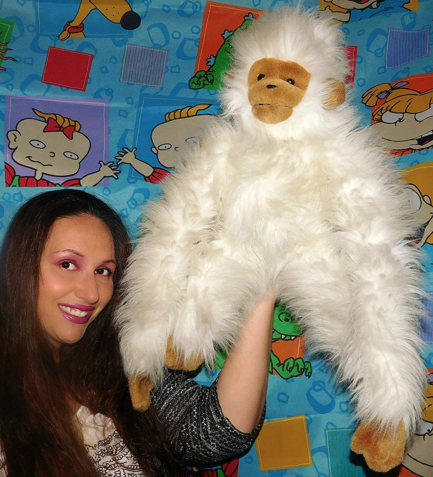 Vintage American Wego Stuffed Monkey Plush STUFFED TOY HUGE RARE 25  1991