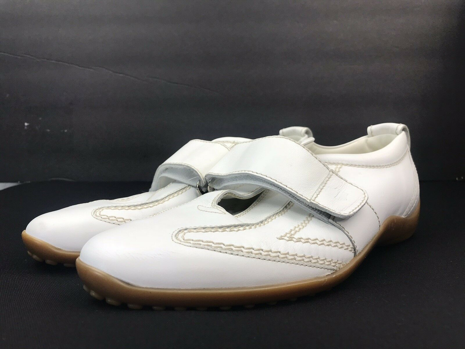 TOD'S Damens's Weiß Größe Round Toe Strap Fashion Sneakers Größe Weiß US 8 Excellent 8bff25