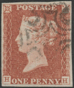 1841-SG8-1d-RED-BROWN-PLATE-22-VERY-FINE-USED-4-MARGIN-MALTESE-CROSS-HH