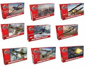 Airfix-1-72-model-aircraft-plane-kits-Spitfire-Hurricane-Messerschmitt-Typhoon