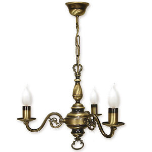 CHANDELIER-3-ARMS-TRADITIONAL-CEILING-LIGHT-ANTIQUE-BRASS-FINISH-CANDLE