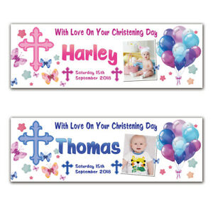 2-Personalised-Christening-Baptism-Holy-Communion-Birthday-Banner-Photo-Party